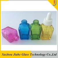 30 ml glass dropper bottle various color essential oil facial oil bottles with dropper