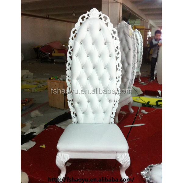 luxury high back king throne chair,white wedding furniture