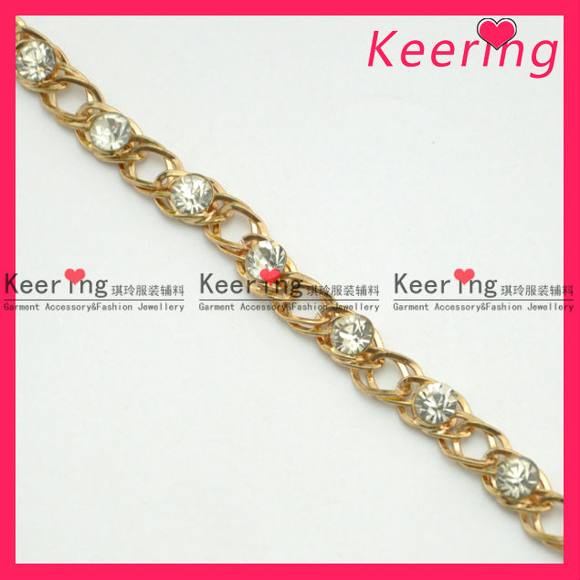 wholesale fashion austrian crystal rhinestone chain WRC-075