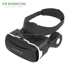 "Newest VR Shinecon IV 4.0 Virtual Reality 3D Movie Glasses Helmet with Headphone Mic for 4.0"" - 5.5"" Smartphone BOBOVR Z4"