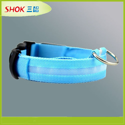 CE hot led dog collar pet collar braided rope dog collar
