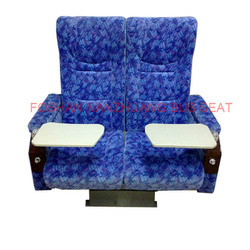 Train passenger fabric seat rotating