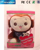 Beautiful packing customize recordable voice soft toys monkey