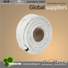 Heat Protection Ideal Substitute Square Shape Fiber Glass Braided Rope