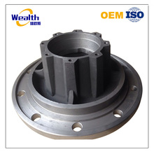 Customized sand casting truck wheel hub used for heavy truck