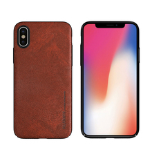 PU Leather Mobile Phone Case For iPhone X, Low MOQ, Many Models Available For Leather Back Cover