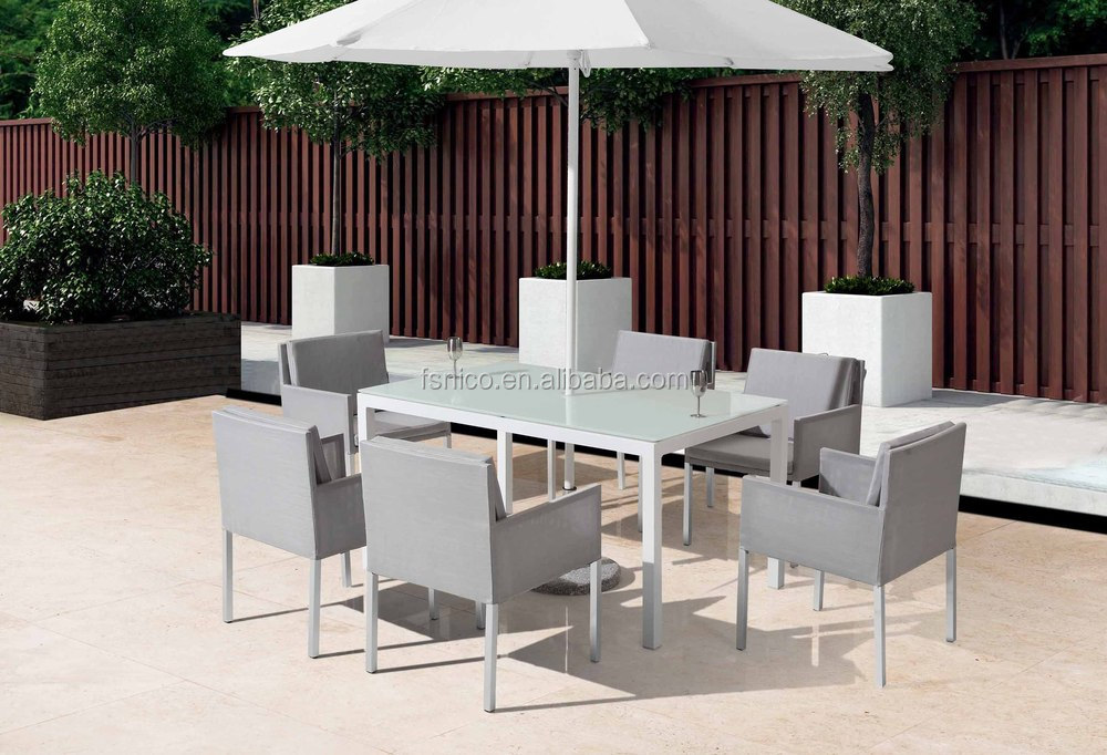 Hot aluminium woven rattan table dining set