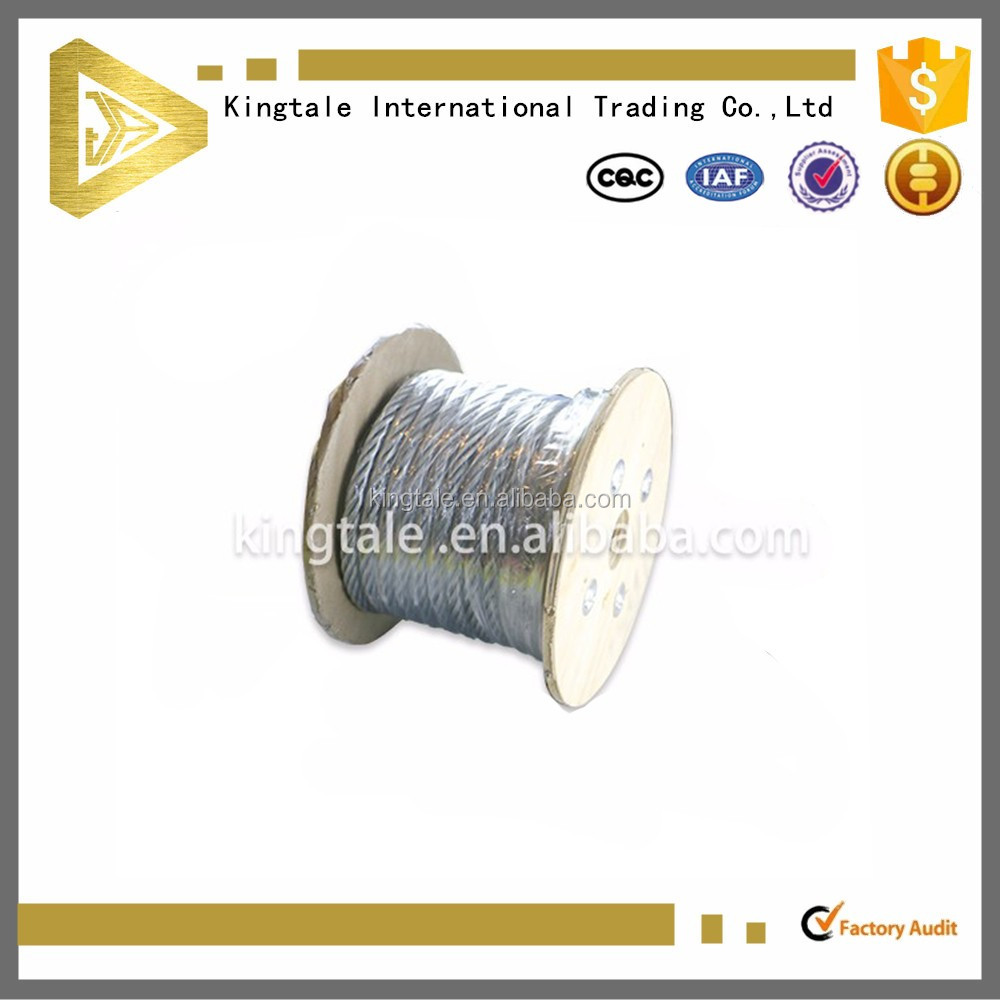 6X19+FC high tensile strength galvanized steel wire cable
