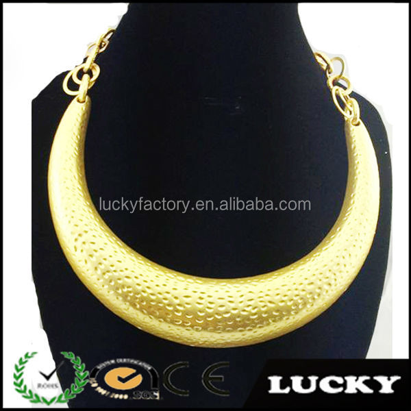 Fashion Brazilian gold plated big necklace without stone