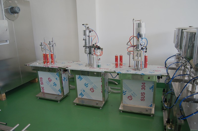 aerosol filling sealing filling machine for air freshener,pesticide,spray