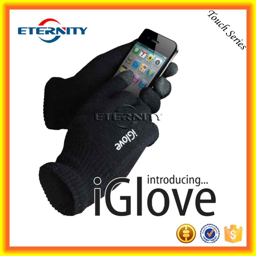 iGlove with box smart touch glove offset logo