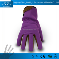 Well fitted synthetic leather ladies gardening gloves