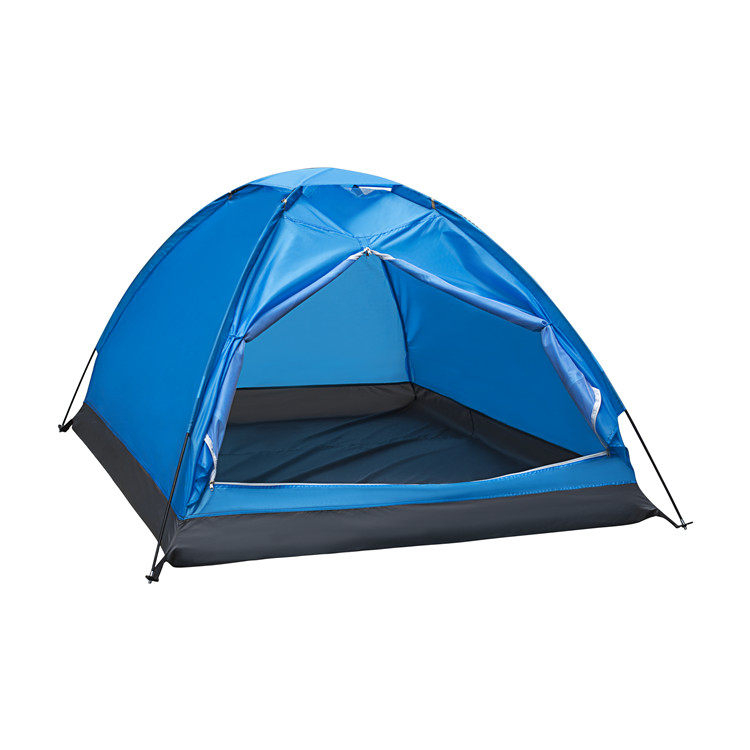 Assured trade Popular Custom blue color family camping tent waterproof 2 person ultralight outdoor camping tent