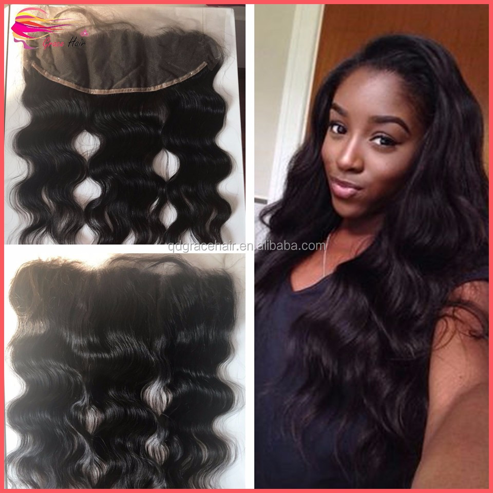 Top quality brazilian human hair body wave lace frontal