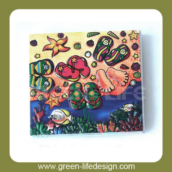 4 color printing resin sea image fridge magnet