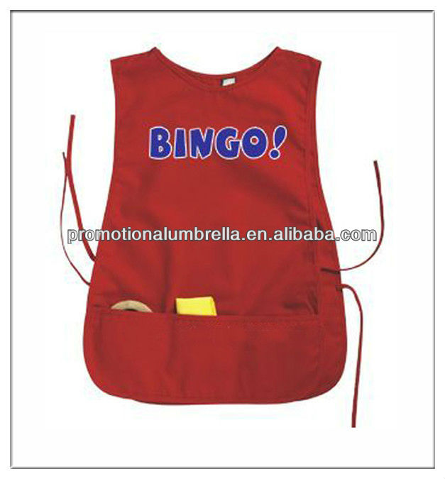 supermarket promotional double sided apron