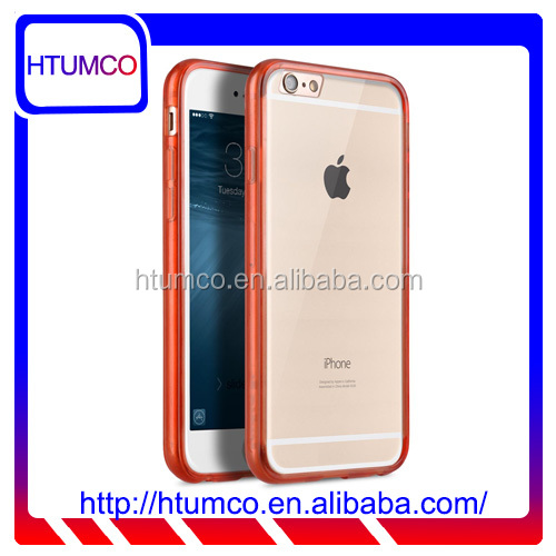 "Popular Transparent Red Double Layer Case for Apple iPhone 6S/6 Plus(5.5"")"