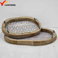 shabby chic timber oblong shape serving trays