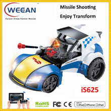 electrical car with music light transform car missile launcher rc car