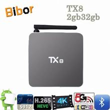 2017 Hot Sale TX8 Smart Set Top Box OTT TV Box 2GB/32GB Amlogic 912 Octa Core Android Smart TV Box