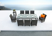 Miami outdoor rattan garden furniture dining table set JX-421