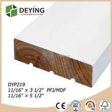 White primed Finger Joint Pine Wooden Door Flat Jamb with Dado