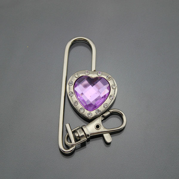 Blank crystal purse hook and key finder