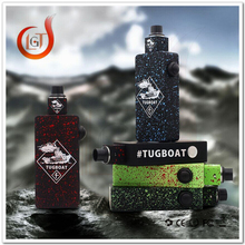 fast delivery 26650 atomizer tugboat box mod free sample and you pay for shipping cost