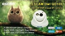 HOT SALE Escam HD720P QD100 h.264 ONVIF P2P animal surveillance cameras