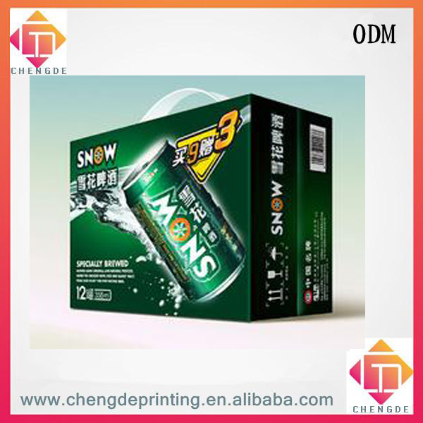 the colour printing corrugated beer packaging carton