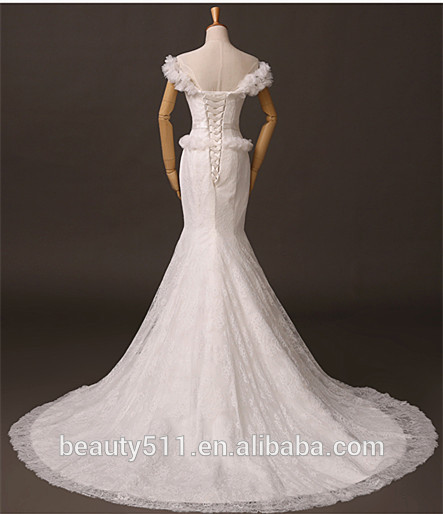 Elegant 2017 Sexy Deep Vintage Lace Wedding Dresses Backless Bridal Gowns Handwork Romantic Lace Wedding Dress F133