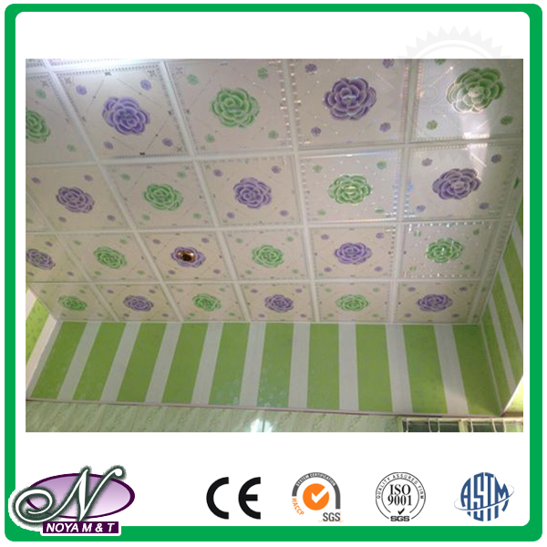 Top quality 3d printing aluminum foil custom size removable ceiling panel