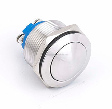 22mm screw terminal DPDT momentary industrial metal waterproof push button switch