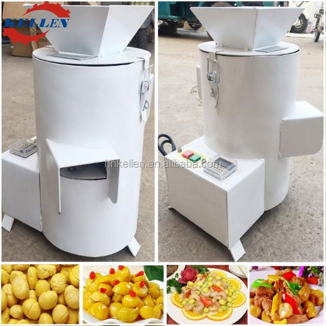 2017 Fashional appearance commercial chestnut skin peeling machine