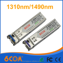 1.25G 10km GLC-BX-U SM SFP Module with LC connector