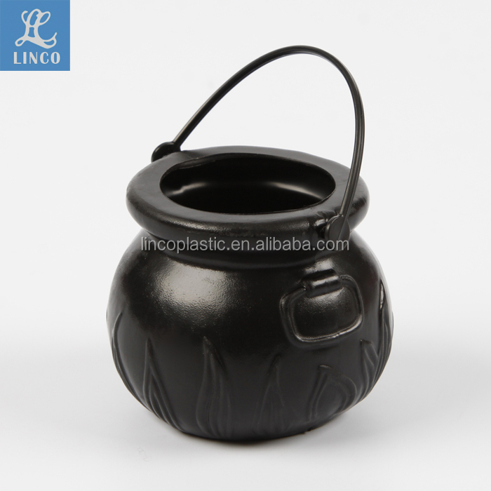 Halloween Decorative plastic witch cauldron toys