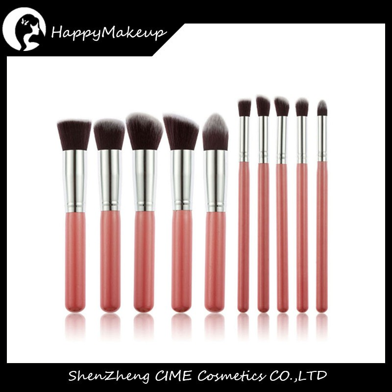 Wholesale price private label 10 pcs beauty make up brushes set tools