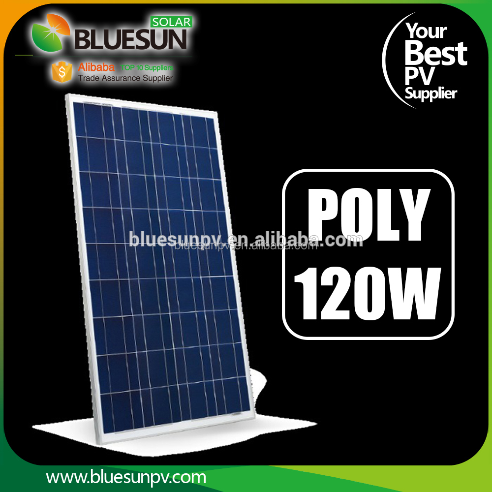 Poly solar panel module 120watt for solar generator 120w with battery and inverter