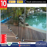 Alufront invisible pool fencing with AS2047 standard