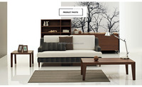 oak wood fabric sofa/ home furniture/morden living room sofa