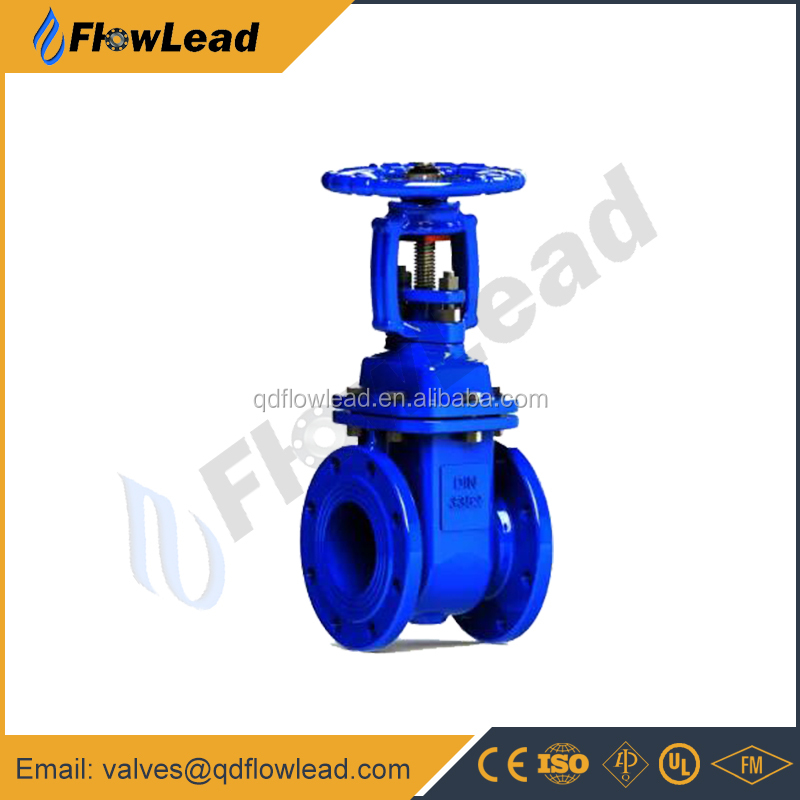 DIN3352 F5 50mm metal seat Rising stem gate valve price