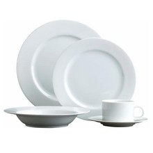 30pcs Round Shape Standard Classical White Porcelain Dinnerware Sets