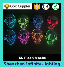 Custom plastic led party led flashing eyes mask / Party Masks With Lights / EL Wire Lighting Party Mask