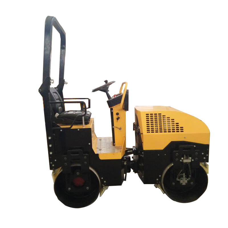 Double cylinder vibratory road roller