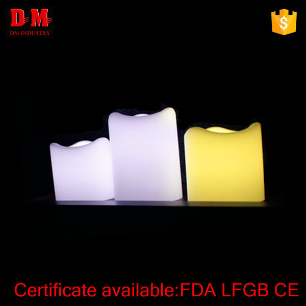 ABS+PP CE pillar LED flameless candle