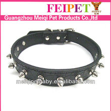 Hot selling cheap adjustable PU leather dog spike collar