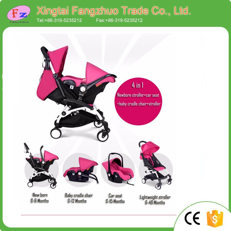 Latest style cheap baby stroller with carriage 4 in 1 baby stroller