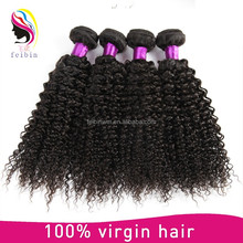 High quality grade 7a malaysian kinky curl sew in hair weave