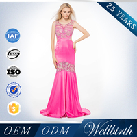 Plum party gown gorgeous cocktail prom dress gathered waist cocktail dress pink bling sexy long evening dress