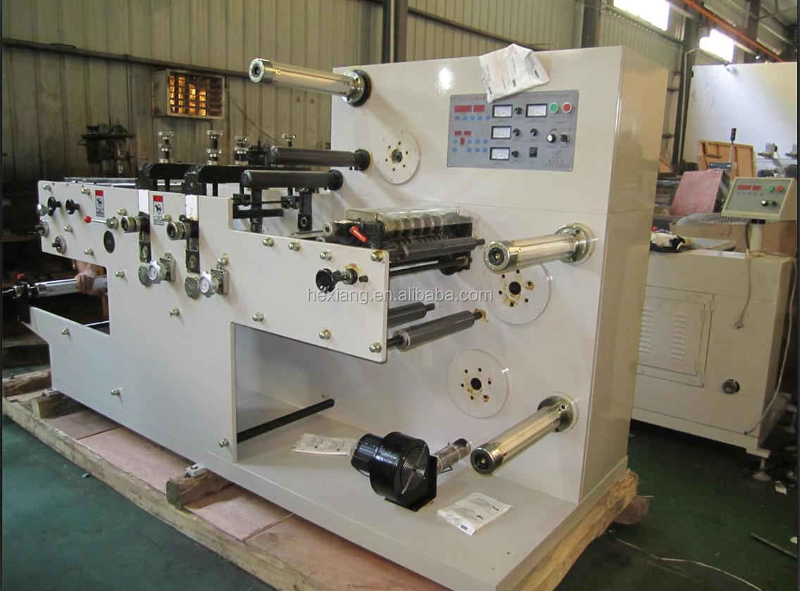 HSN-320 TWO HEARDS ROTARY DIE CUTTING MACHINE with slitting machine for label